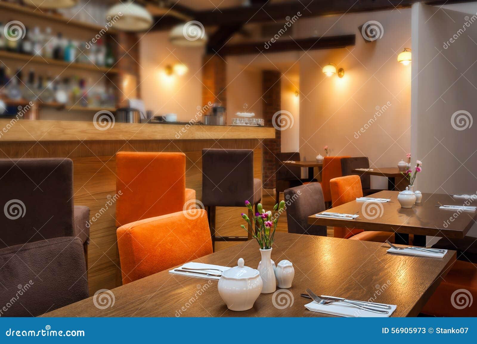 restaurant interior stock photo - image: 56905973