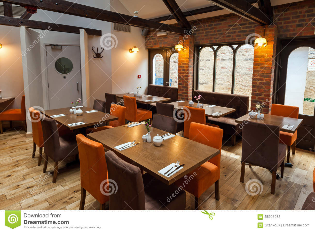 restaurant interior stock photo - image: 56905982