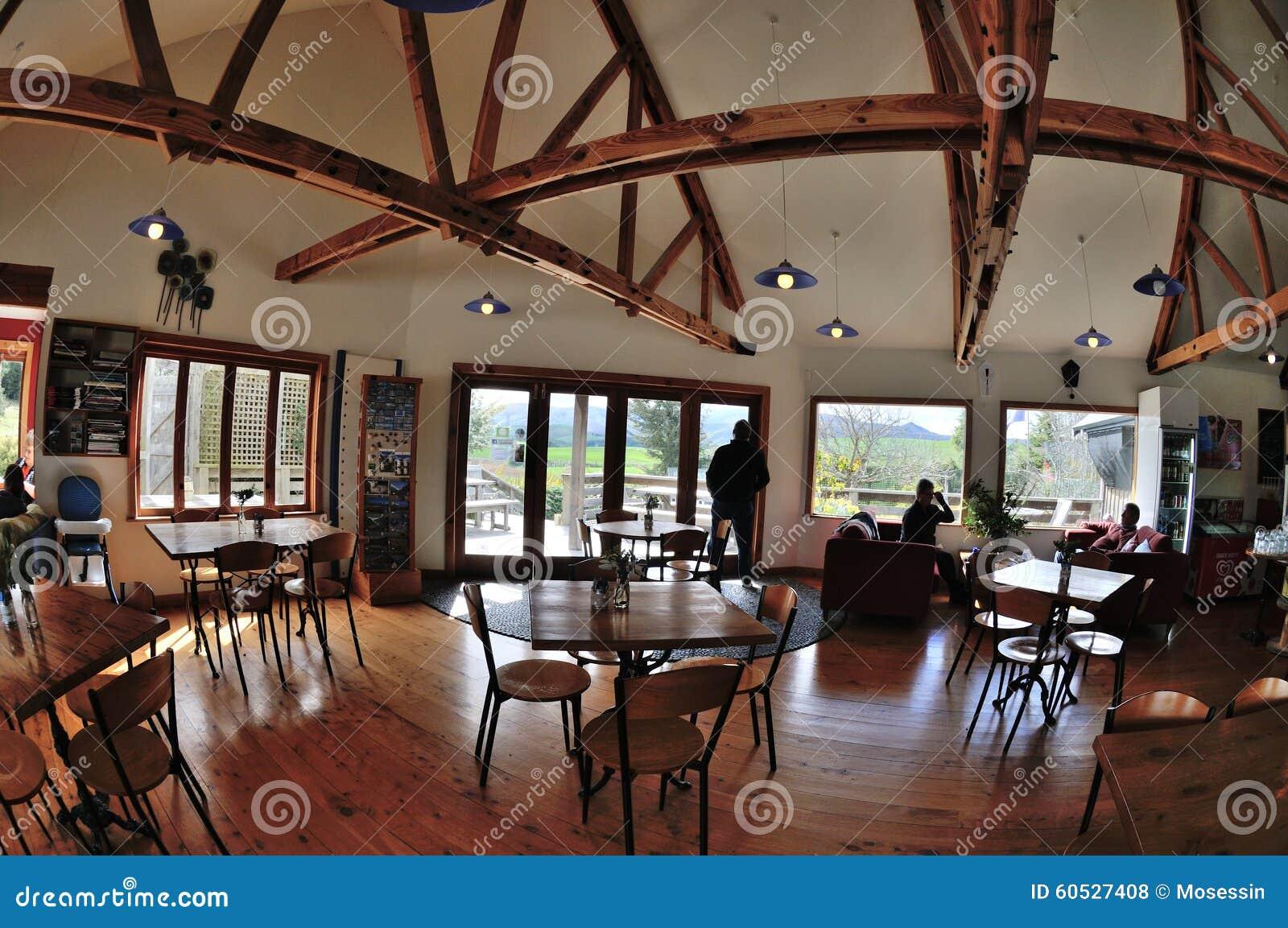 Restaurant interior design editorial stock photo image