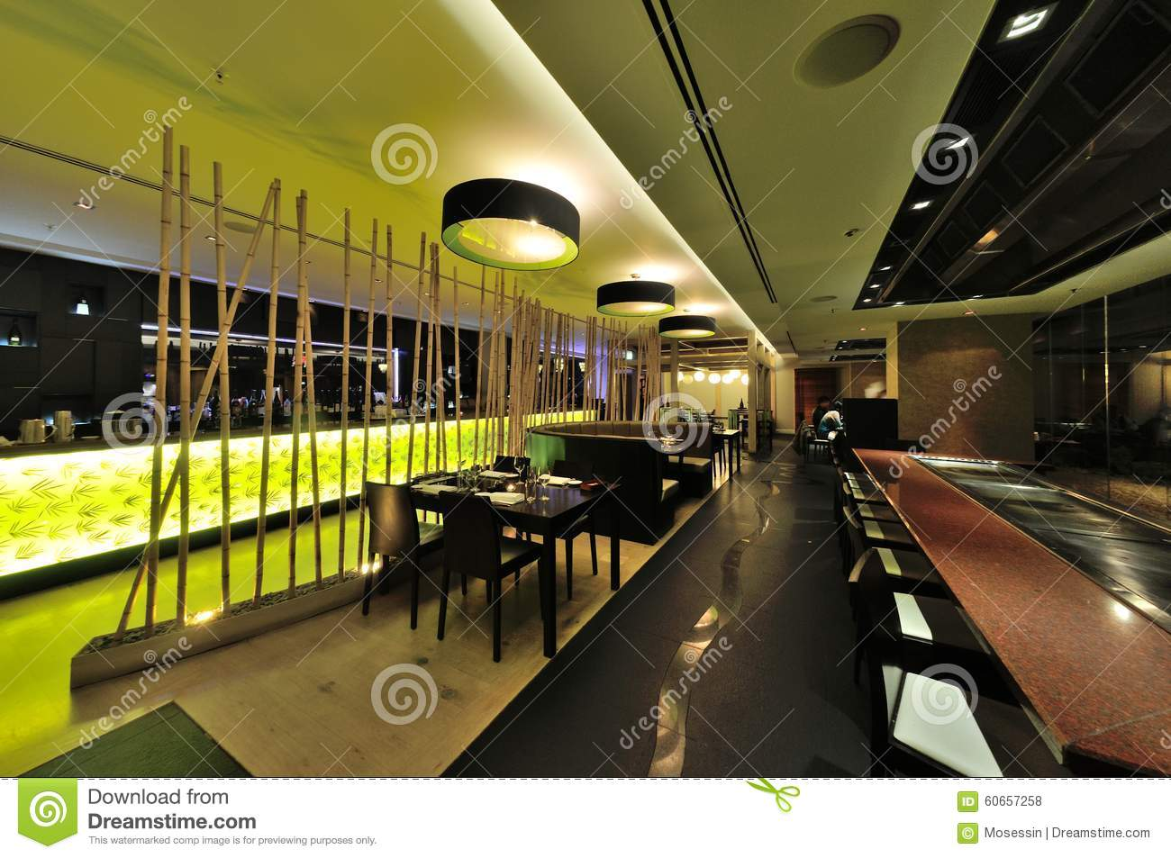 Restaurant interior design editorial stock photo image of
