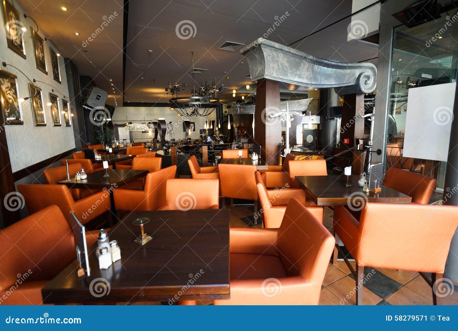 Restaurant interior editorial photo image