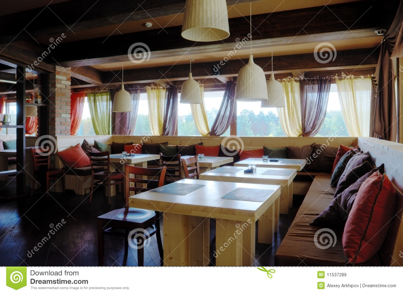 Restaurant interior in hdri royalty free stock images