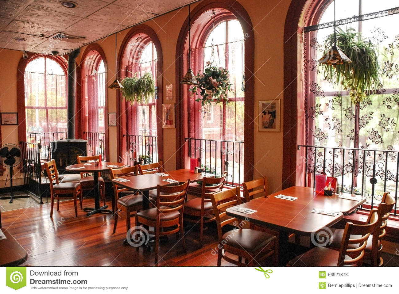 Restaurant interior editorial stock photo image of city