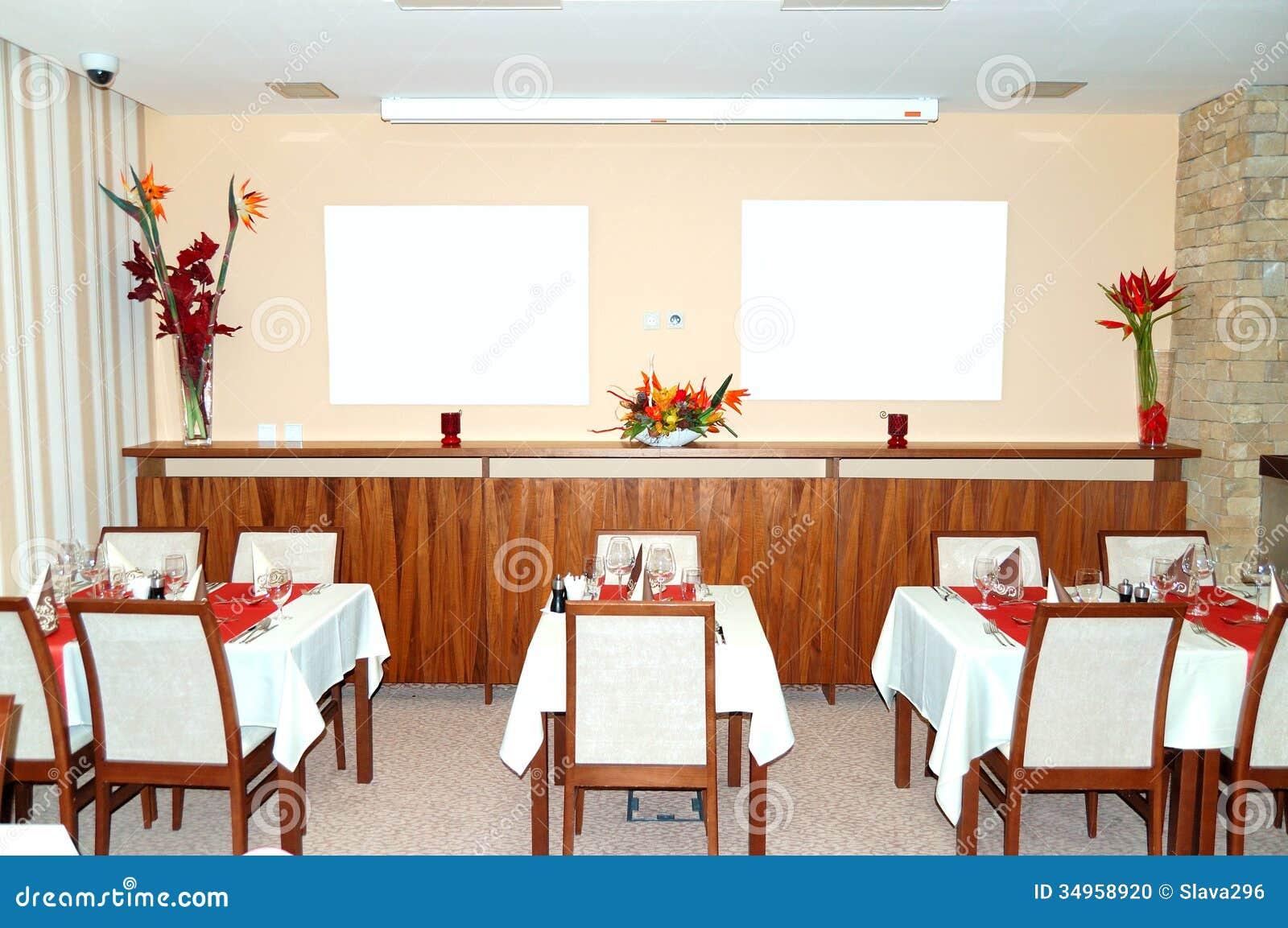 Restaurant interior at popular hotel strbske pleso ski