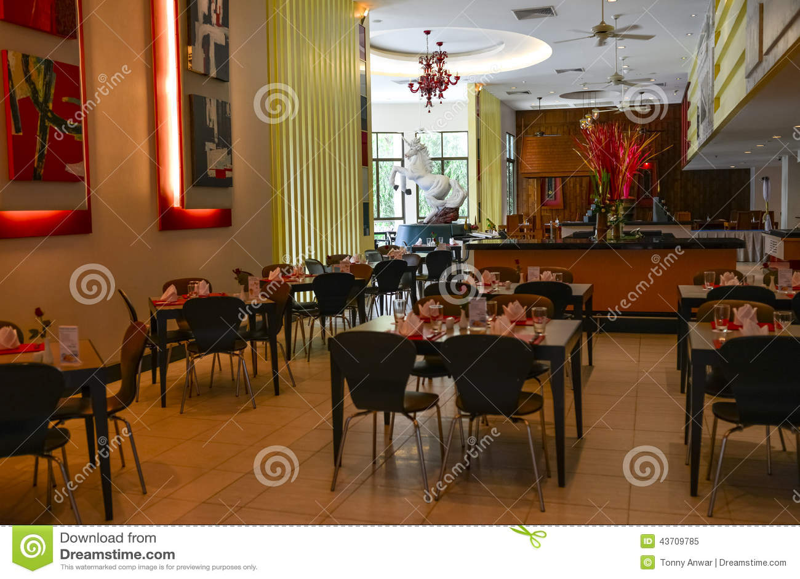 Restaurant Interior Setup : Restaurant editorial image