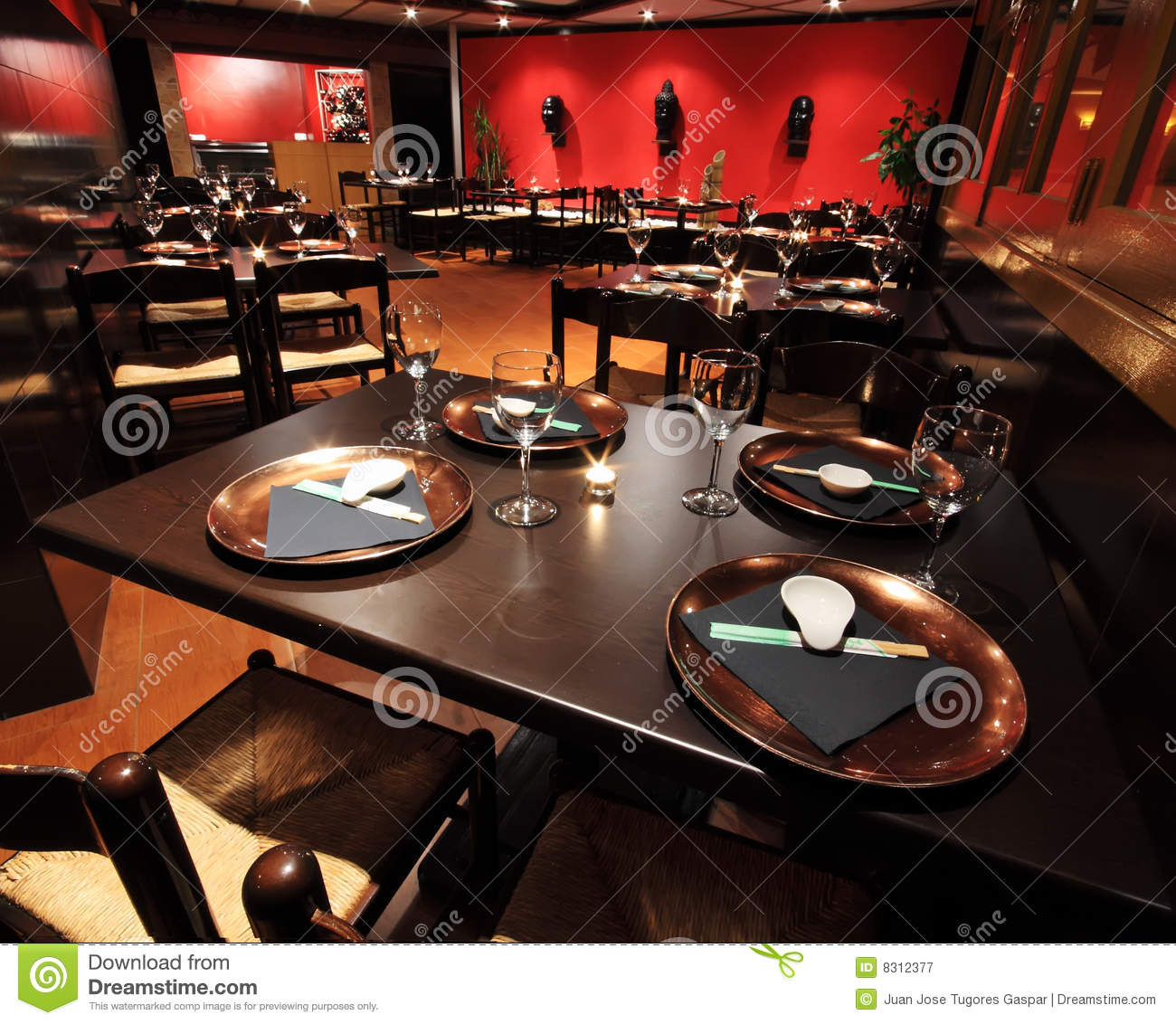Restaurant interiors royalty free stock photography
