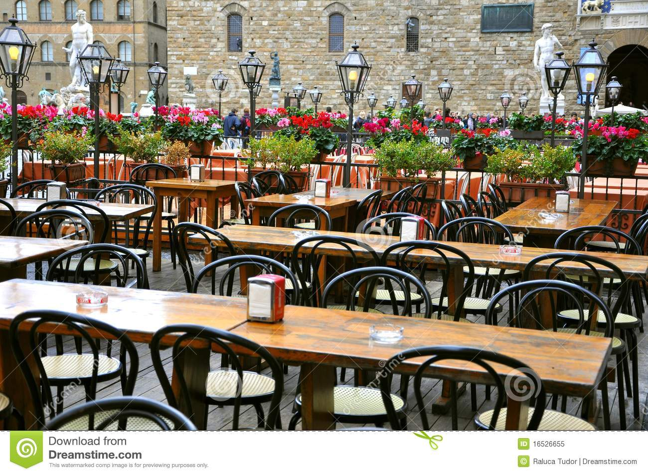 Restaurant In Italy Stock Image Image Of Cafe Flowers