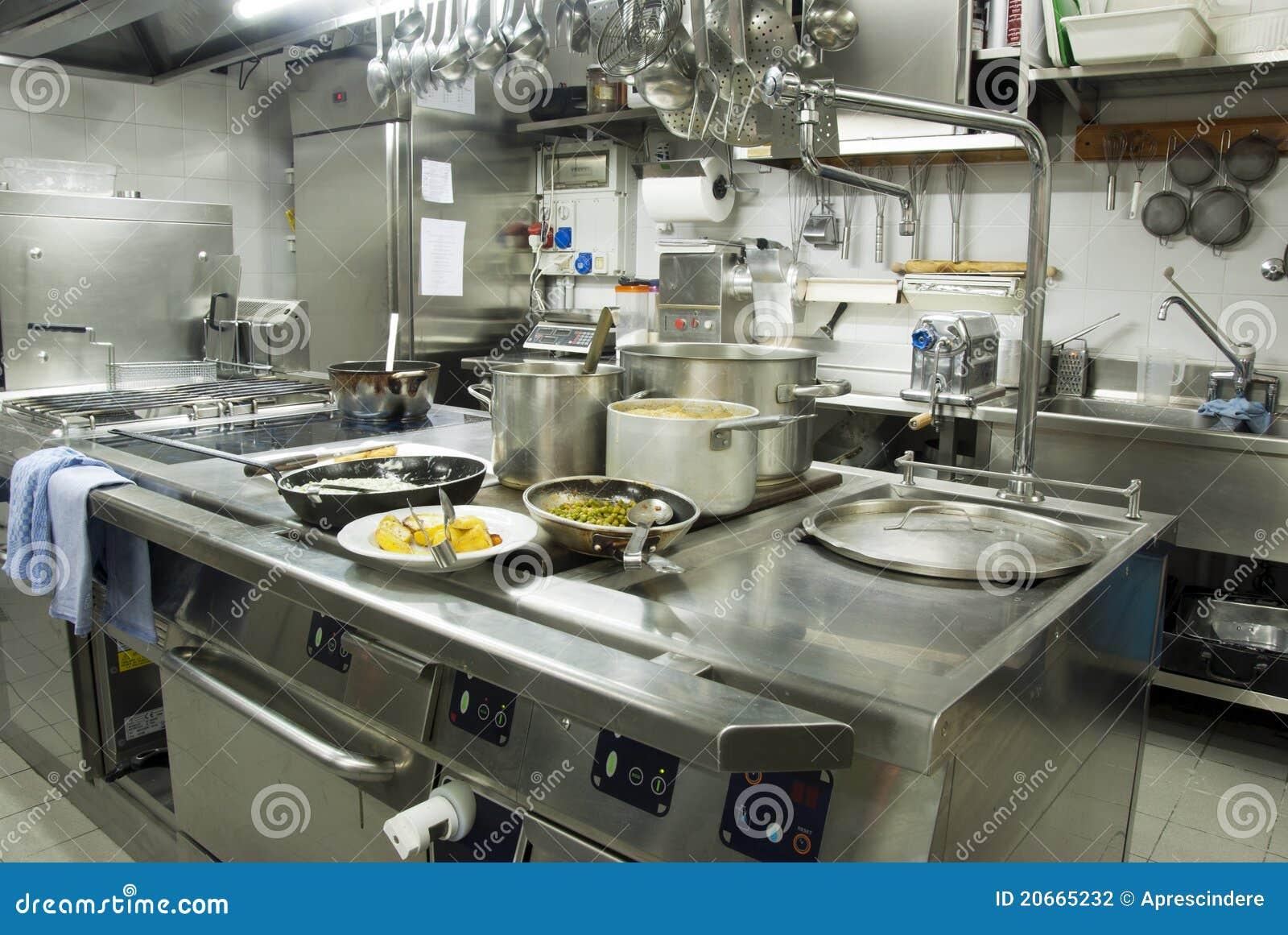 big luxury restaurant kitchen stock images - image: 2318544