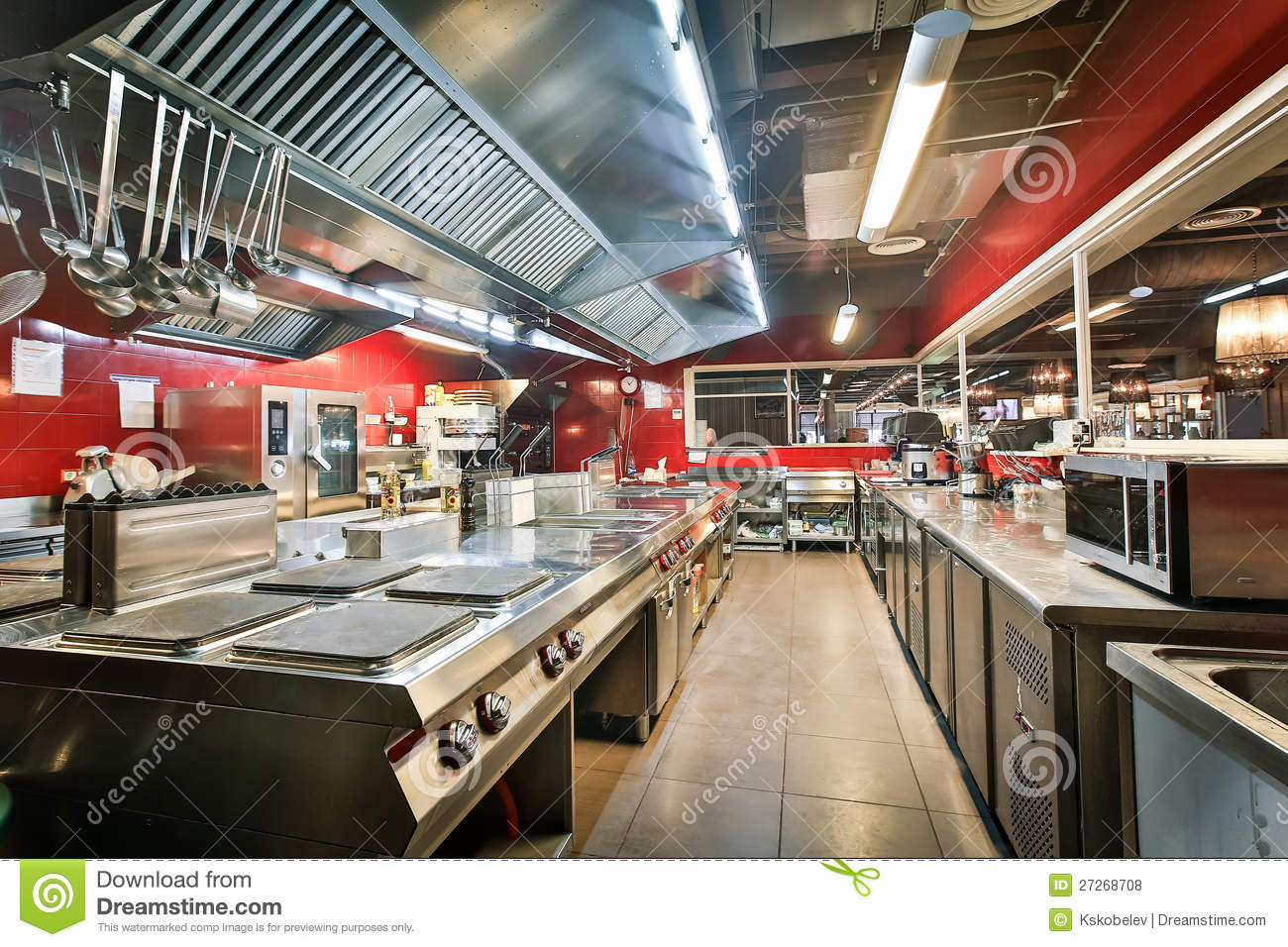 Restaurant Kitchen Stock Photo Image Of Copy Color