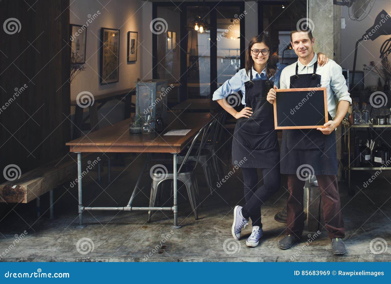 Restaurant-Konzept Paare Barista Coffee Shop Service