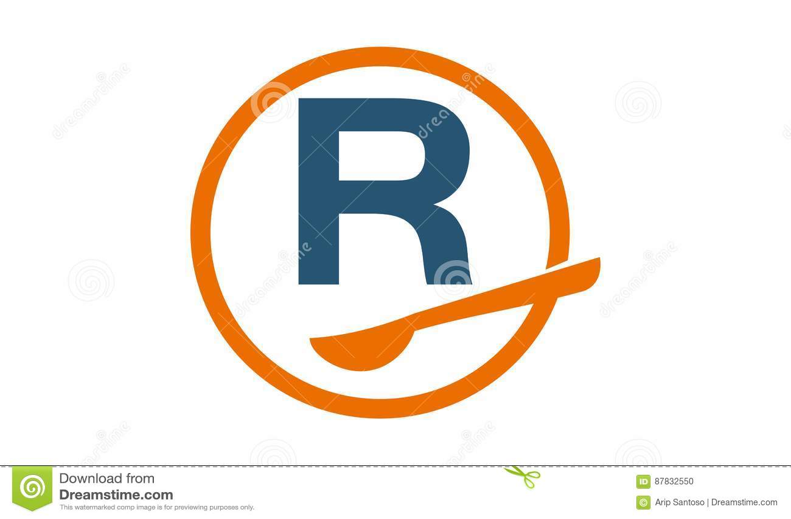 restaurant letter r stock vector illustration of food 87832550