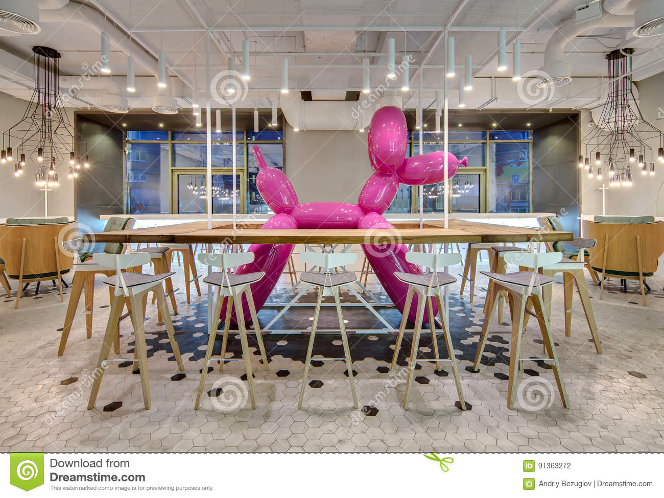 Restaurant In Loft Style Stock Photo Image Of Inflatable 91363272