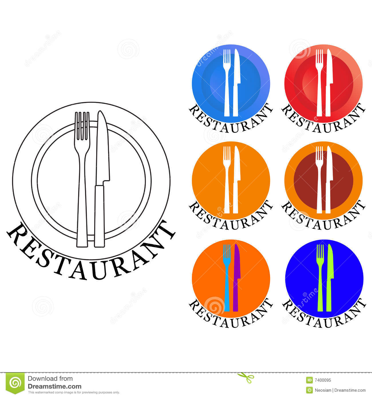 Restaurant Logo Royalty Free Stock Photo - Image: 7400095