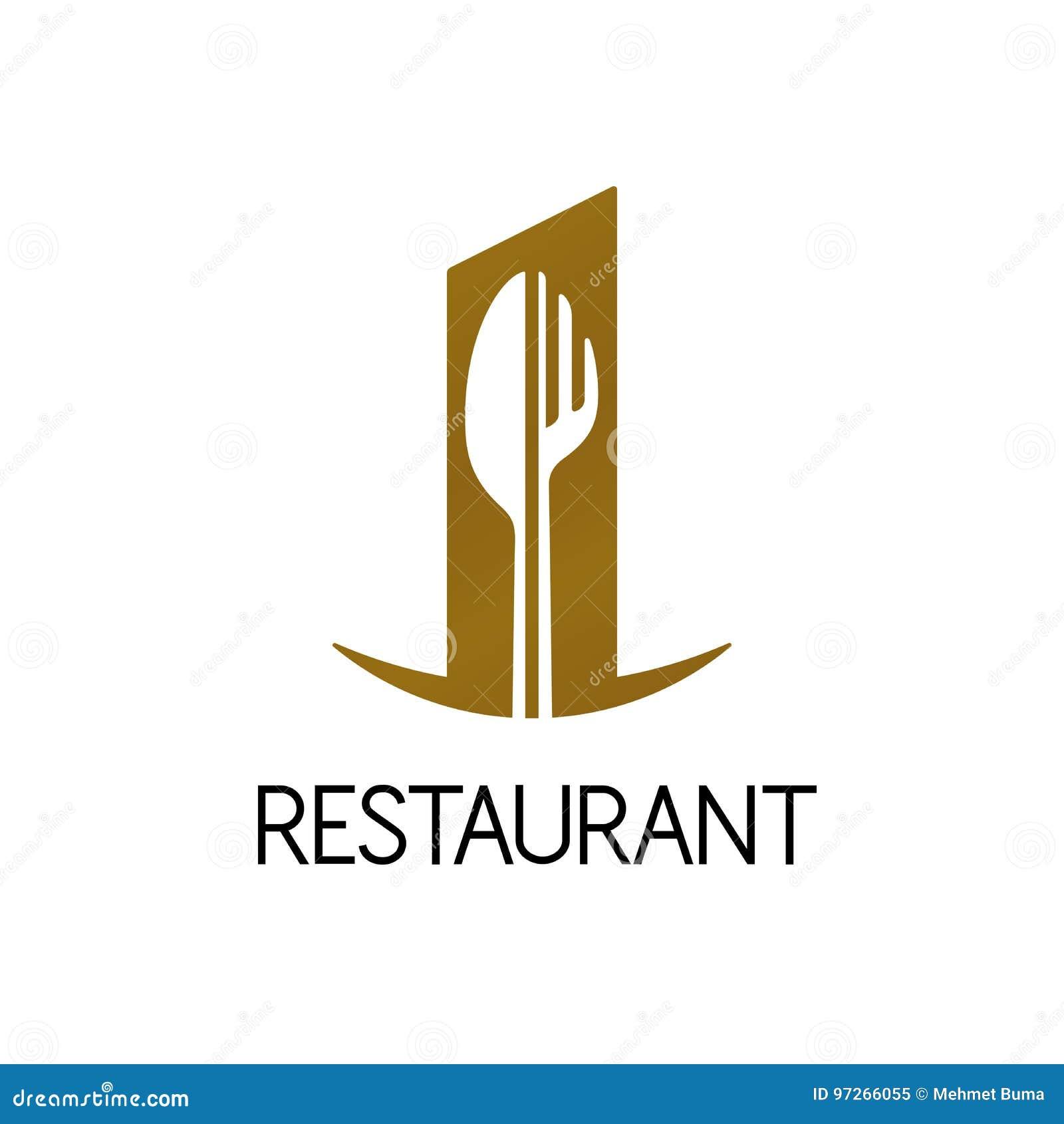 Restaurant Logo Fork Cartoon Vector Cartoondealer Com