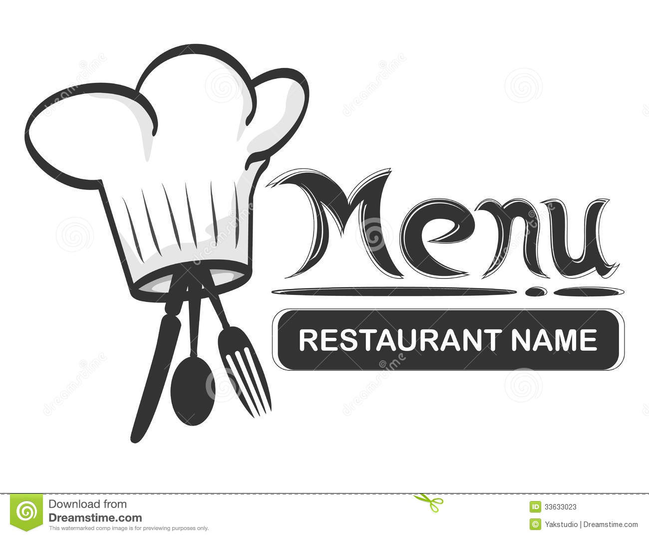 restaurant logo fork stock vector. illustration of fork - 33633023