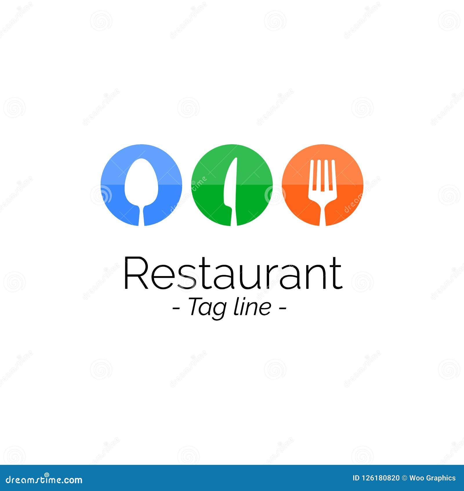Restaurant Logo icon flat design, Vector illustration bannerRestaurant Logo icon flat design inspiration, Vector illustration bann