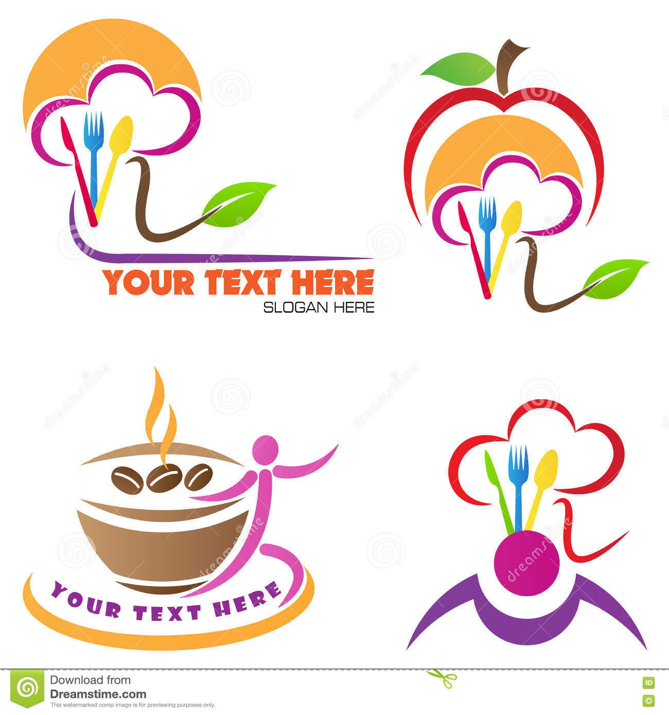 Logo restaurant barbeques cartoon vector cartoondealer