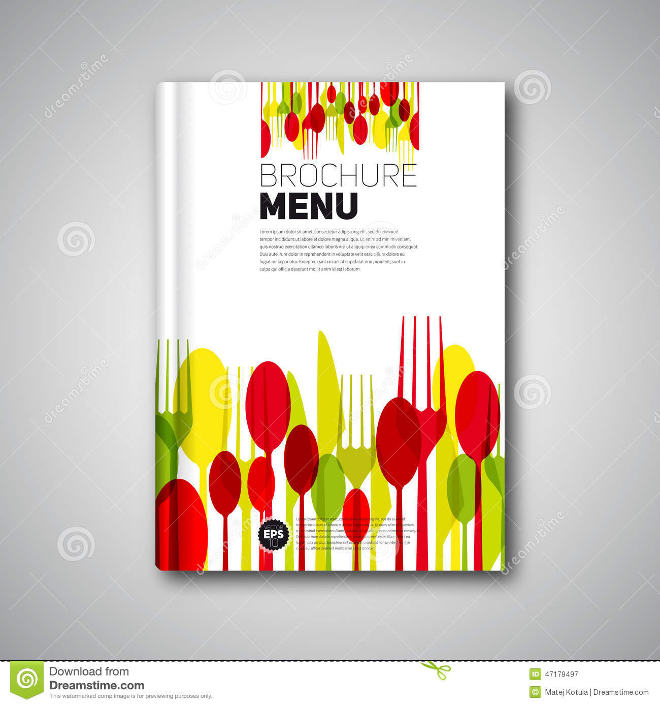 Restaurant Menu Card Design Template, Brochure Book Cover Design Stock ...