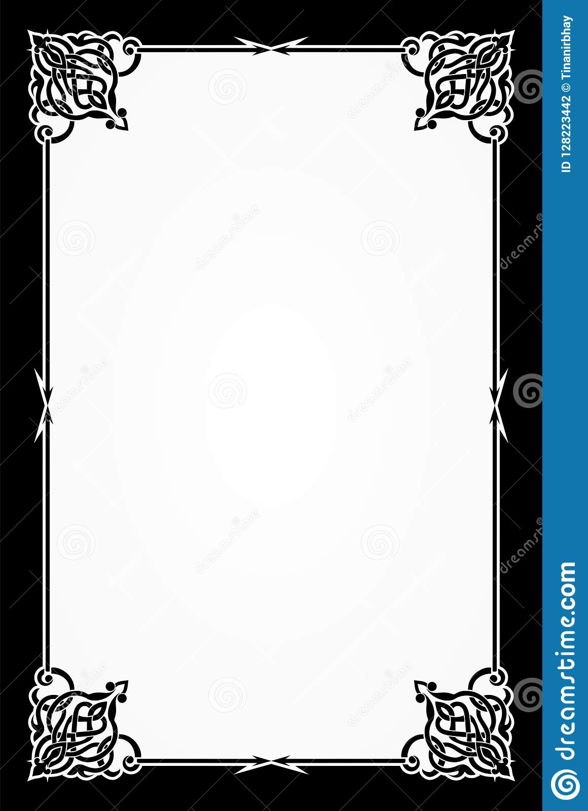 restaurant menu card frame template stock vector - illustration of