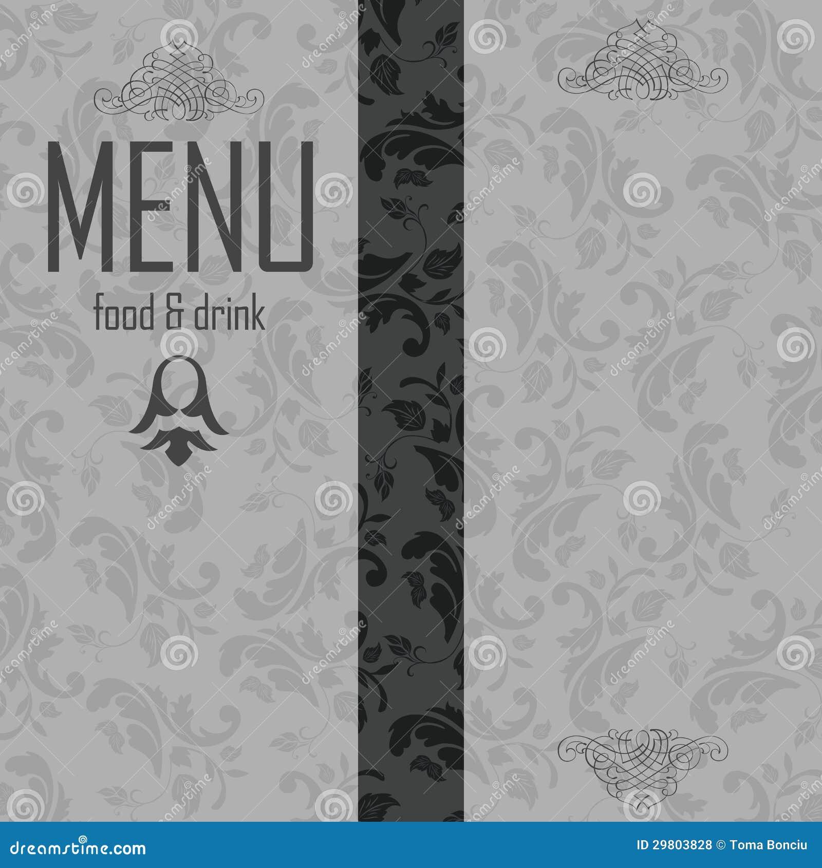 Elegant Restaurant Menu Design Stock Illustration Illustration Of Bistro Dish 29803828