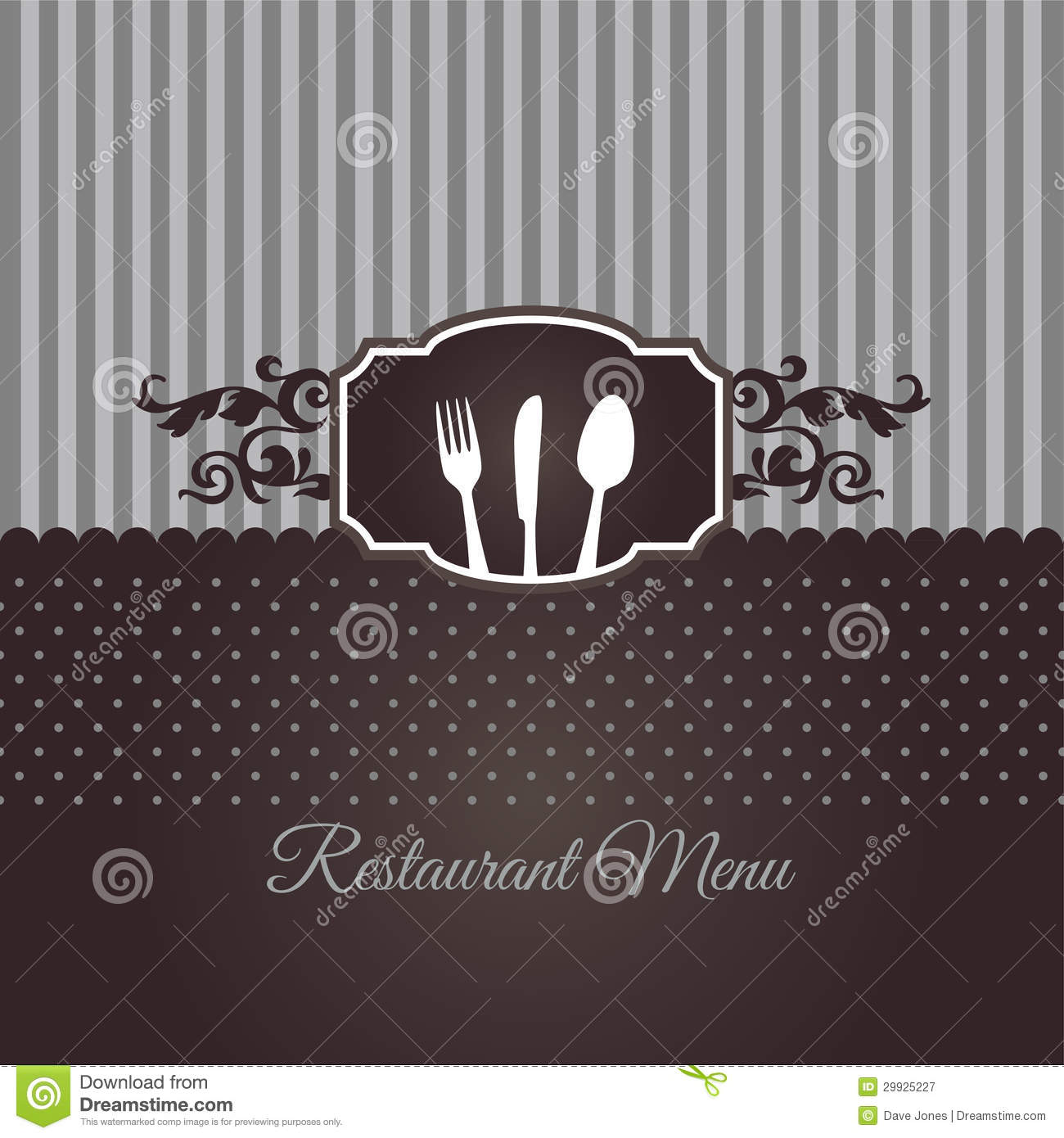 Restaurant Menu Cover In Chocolate Brown Stock Vector Illustration Of Foliage Cover 29925227