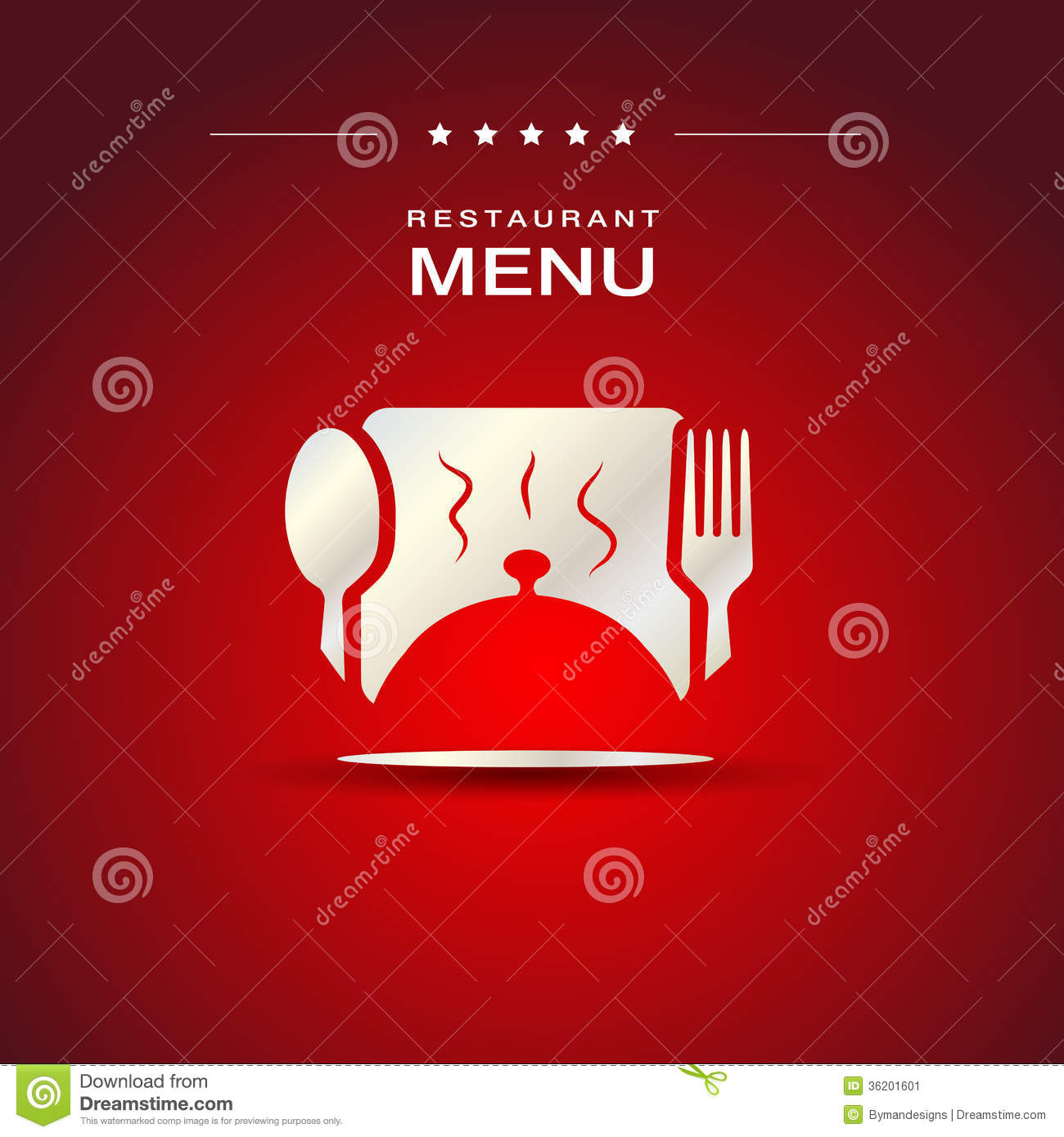 restaurant menu cover design stock vector - illustration of