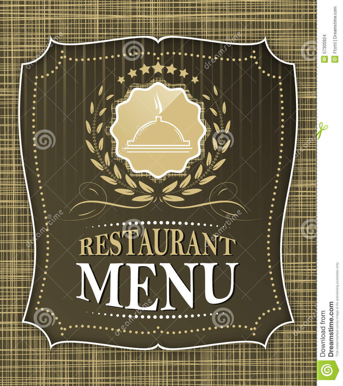 Restaurant menu cover design in vintage style stock vector
