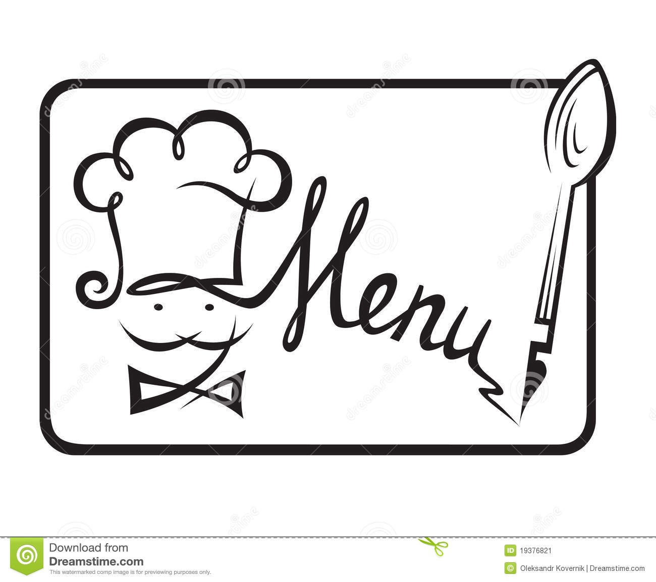 restaurant menu design stock vector. illustration of chef - 19376821