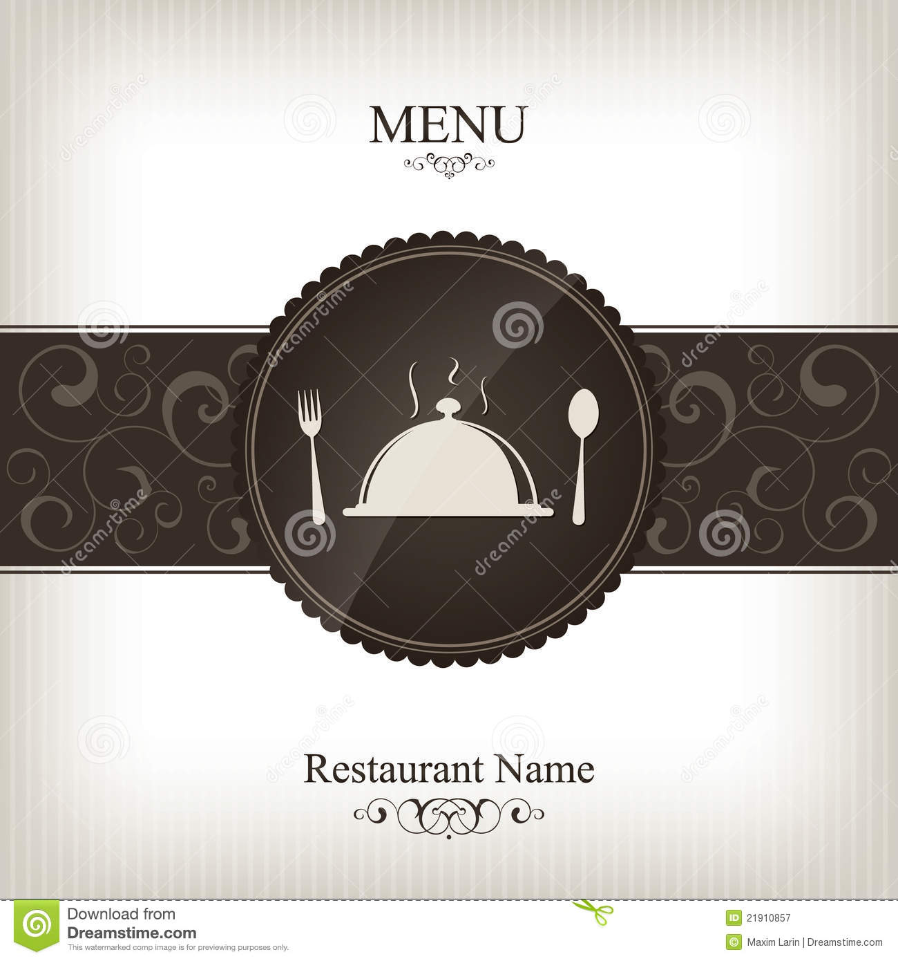 Restaurant Menu Design Stock Vector Illustration Of Card 21910857
