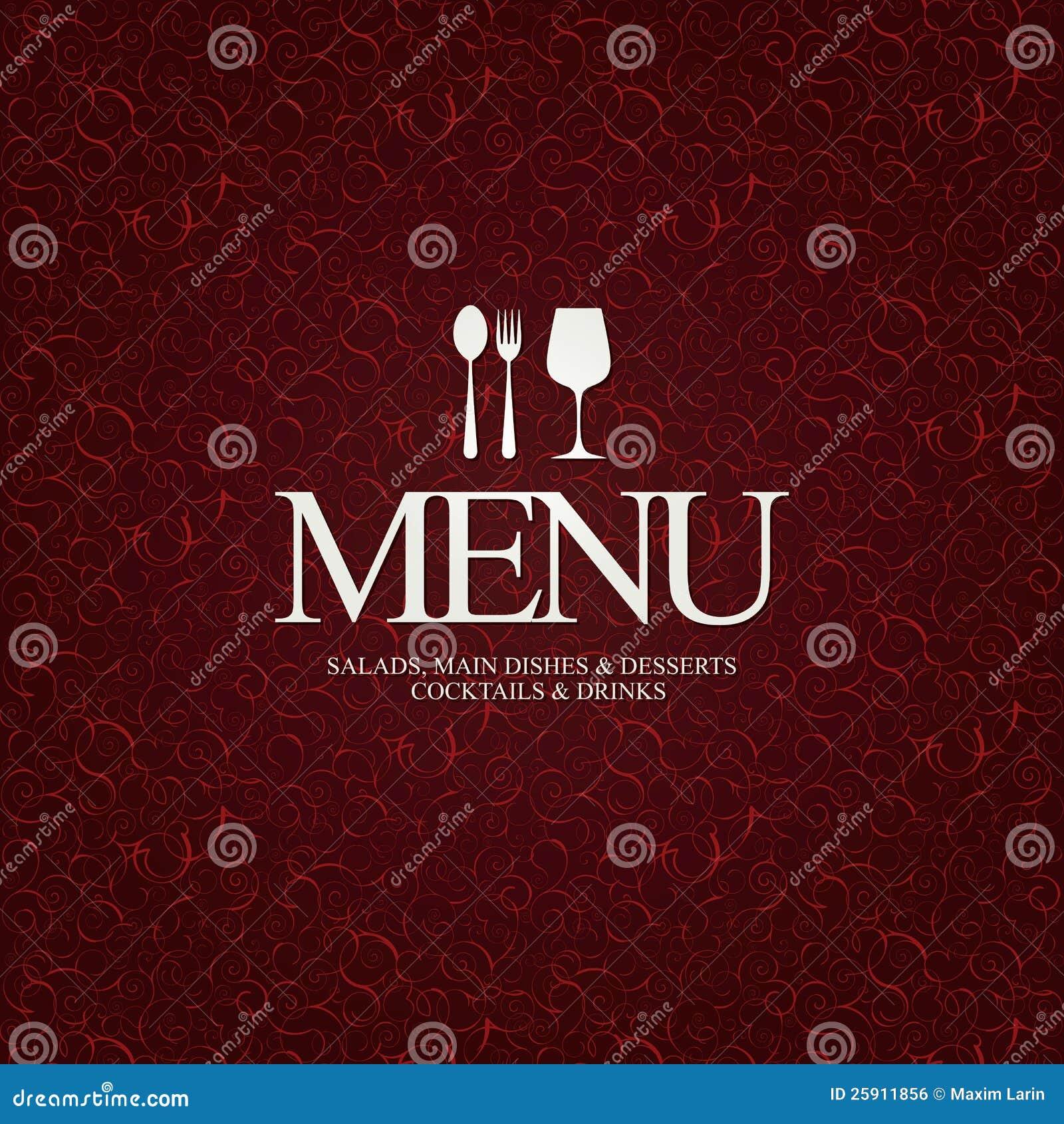 restaurant menu design royalty free stock image - image: 25911856
