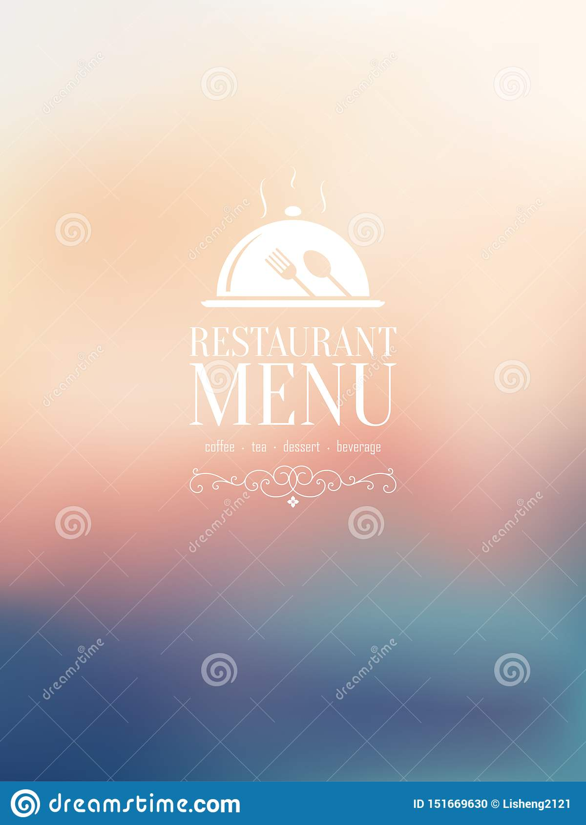 A Restaurant Menu Design Blurred Stock Vector Illustration Of Beach Island 151669630