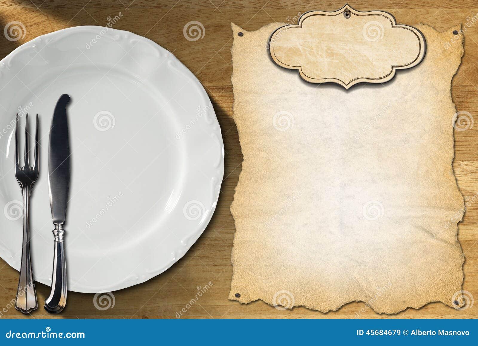 Restaurant Menu Design Stock Illustration Illustration Of
