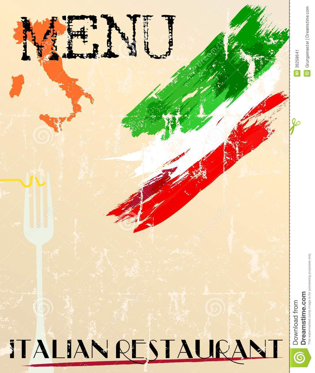 restaurant menu design stock vector. illustration of food - 36258641