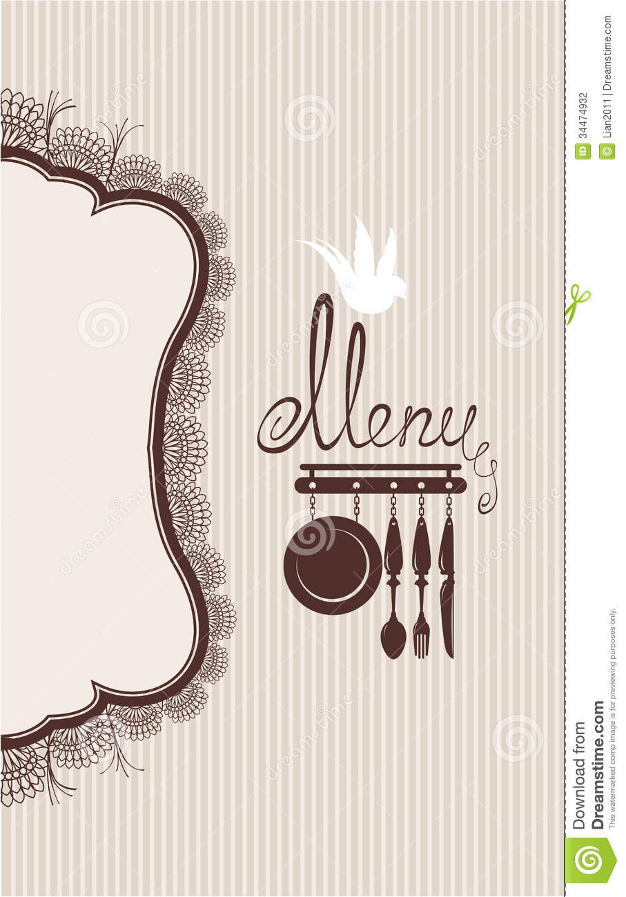 Menu Card Border Designs