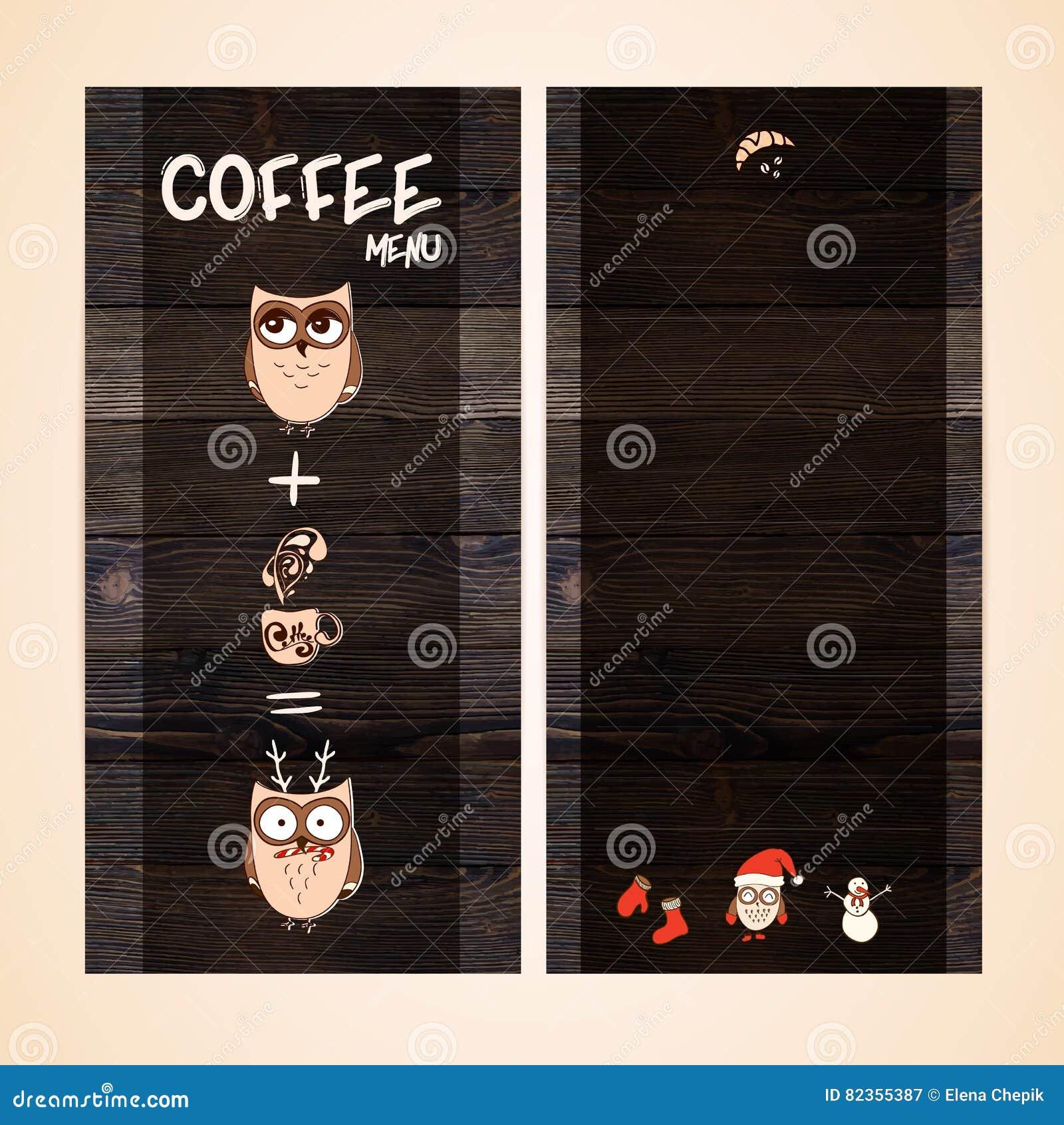 Coffee Template Background Cartoon Vector