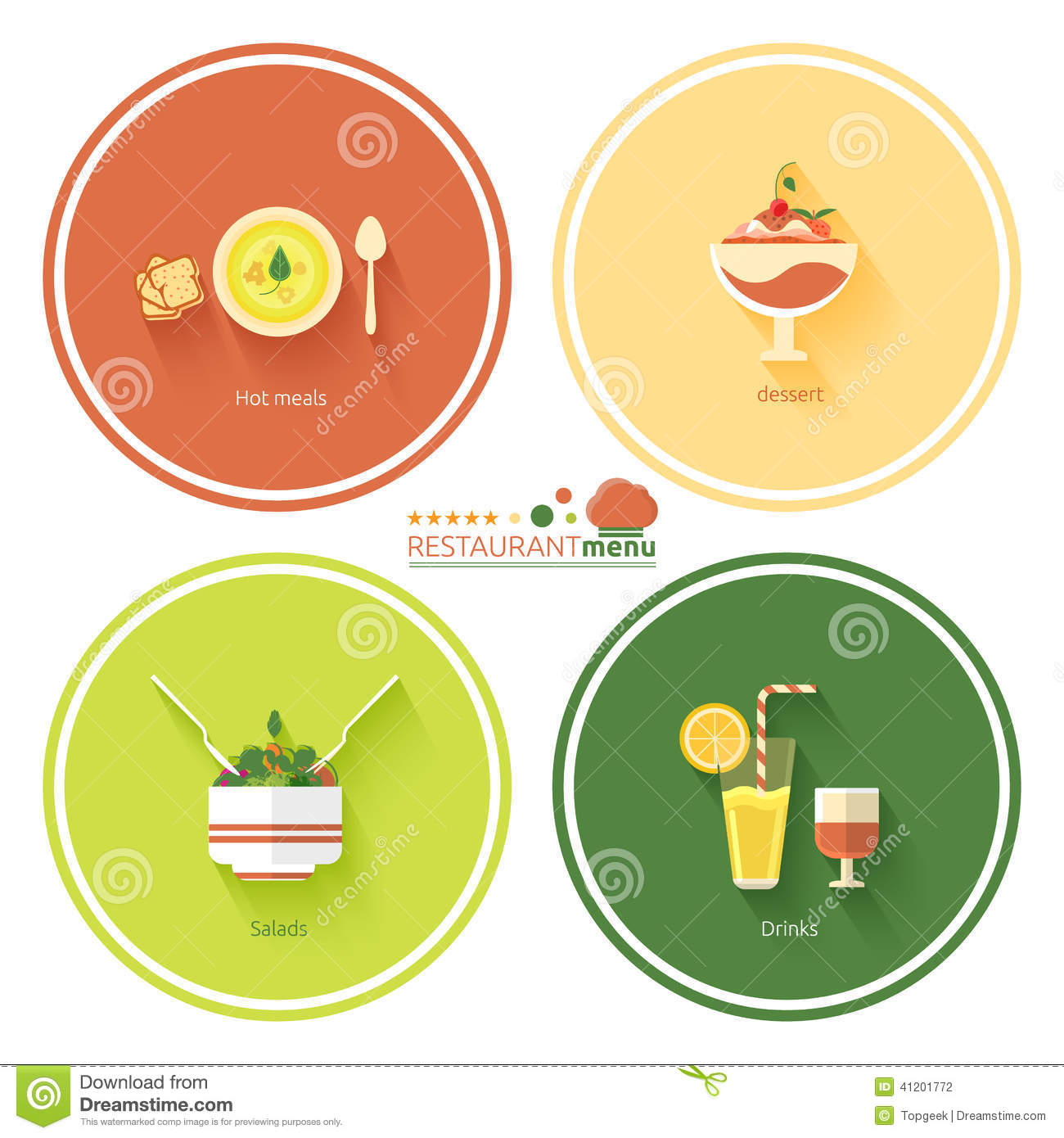 Restaurant menu designs stock vector image