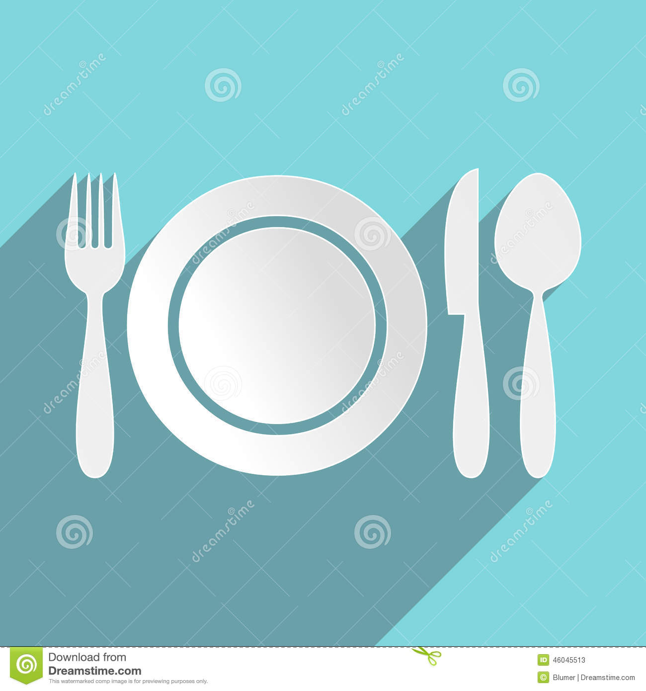 Restaurant Menu Icon Stock Vector Image 46045513