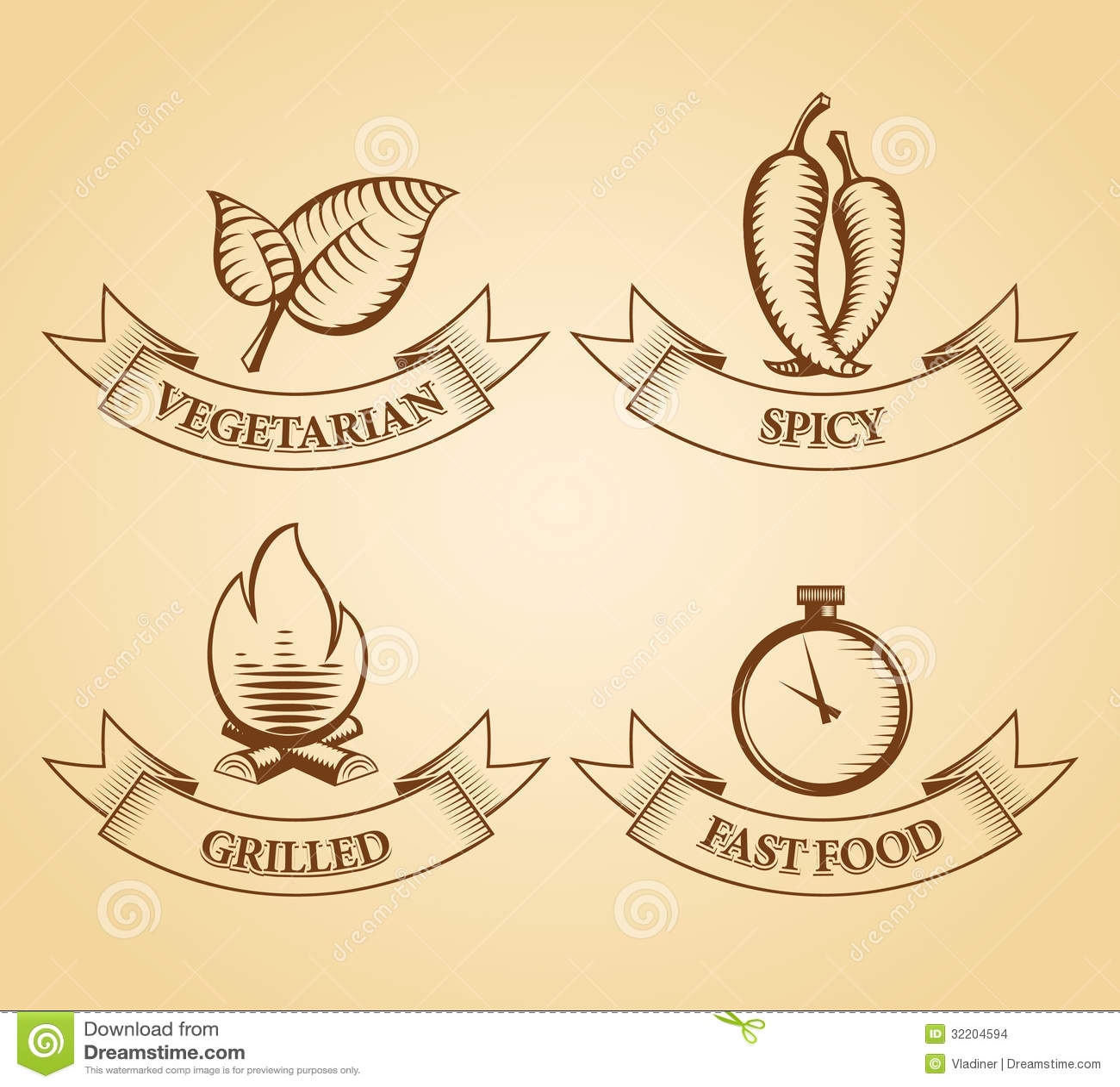 Restaurant Menu Icons Stock Images Image 32204594