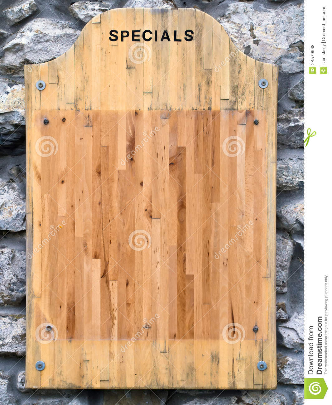 restaurant menu specials board stock photo