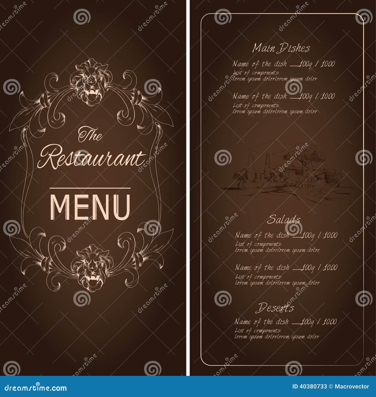 Шаблоны для ресторанного меню скачать