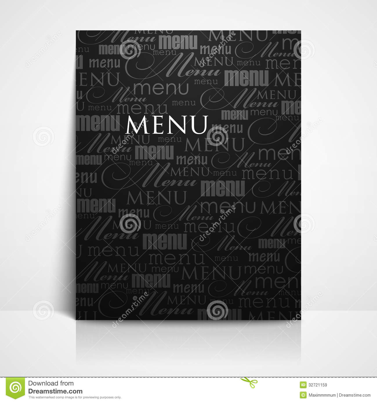 restaurant menu template royalty free stock images