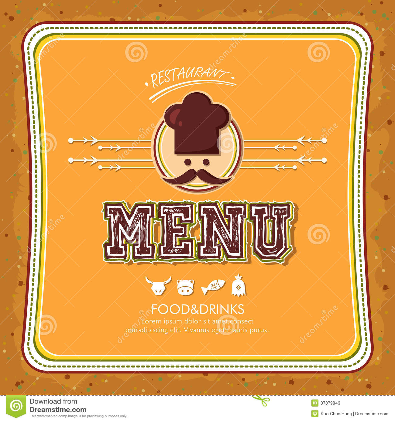 Restaurant menu stock photos image