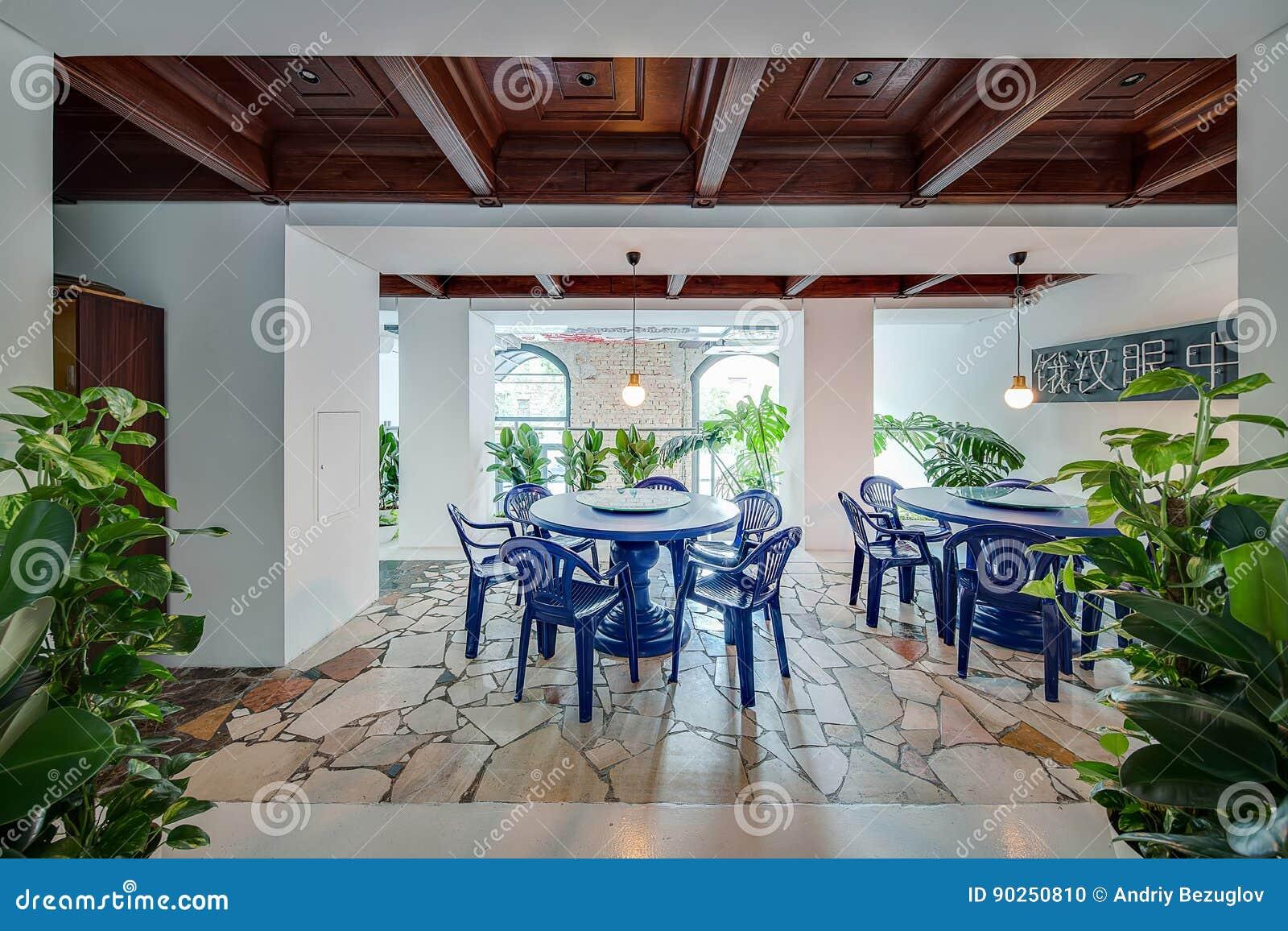 Restaurant in moderne stijl stock foto afbeelding bestaande uit