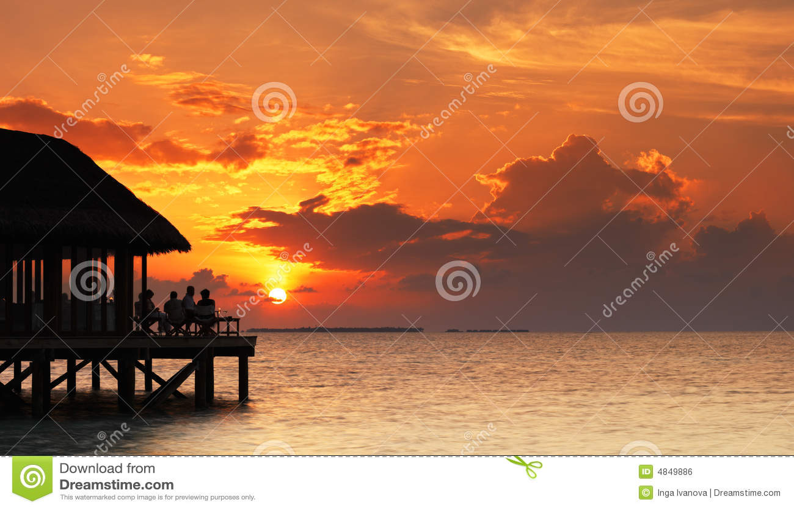 Restaurant over the ocean.