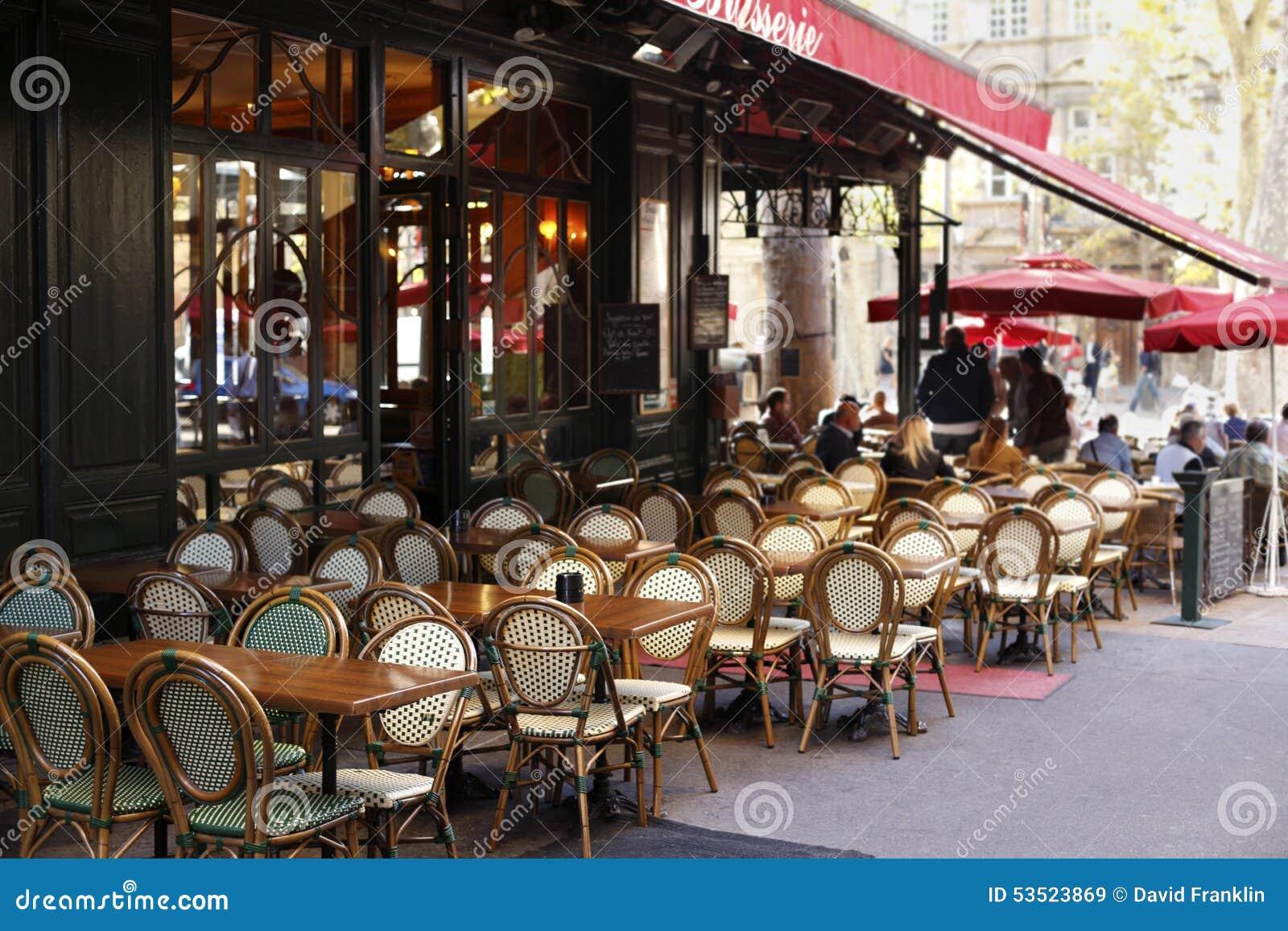 French Restaurant Sidewalk Cafe Paris France Stock Image