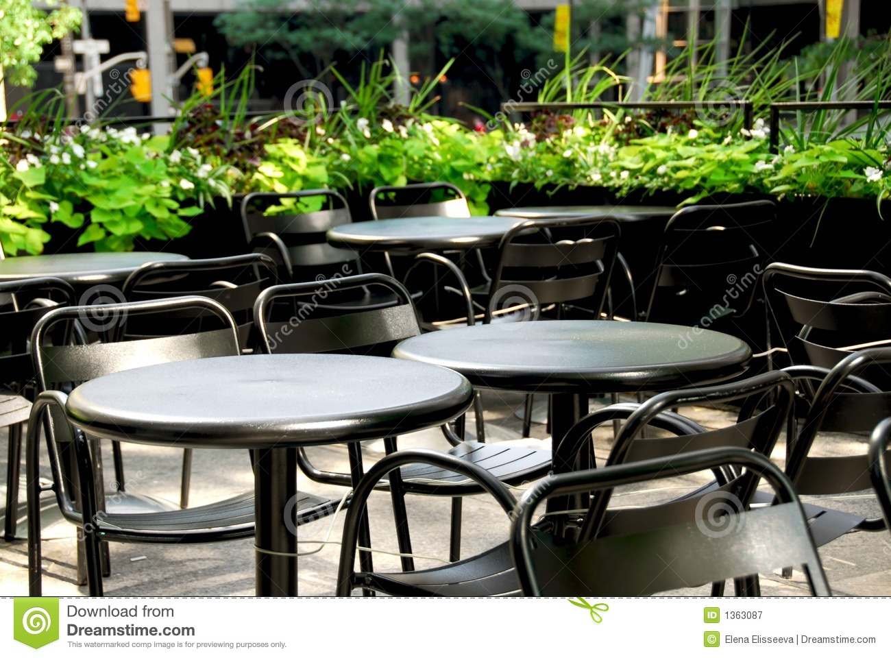Restaurant Patio Royalty Free Stock Photography - Image: 1363087
