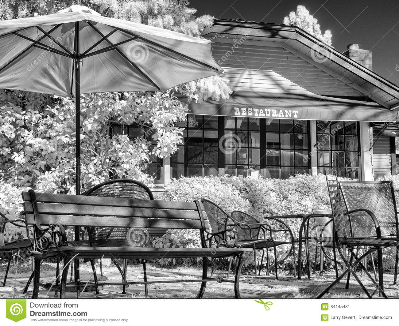 Fabulous Restaurant Patio Dining Stock Image Image Of Modern 84145481 Squirreltailoven Fun Painted Chair Ideas Images Squirreltailovenorg