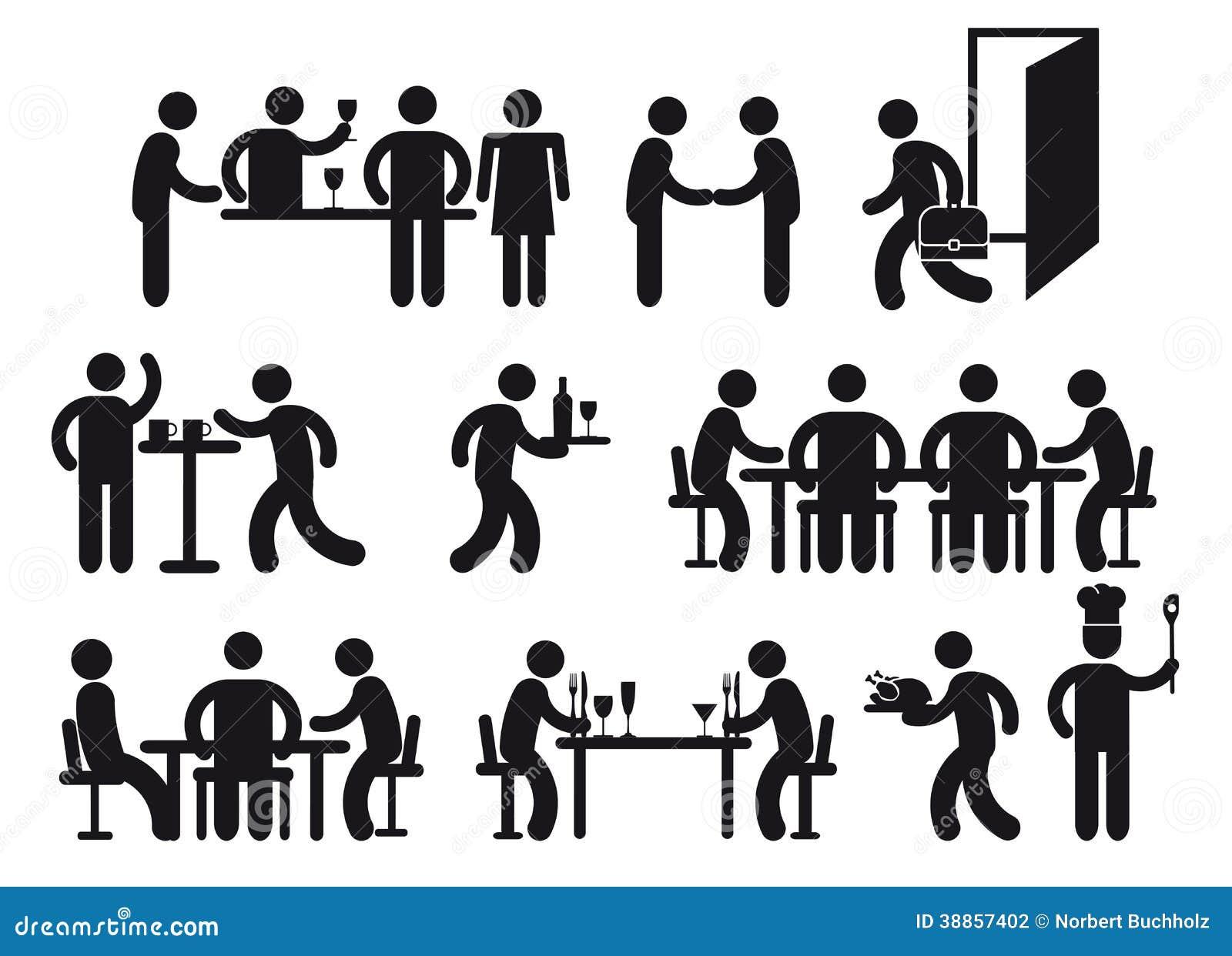 restaurant pictograms stock photo image 38857402 water clip art for kids waiter clip art free