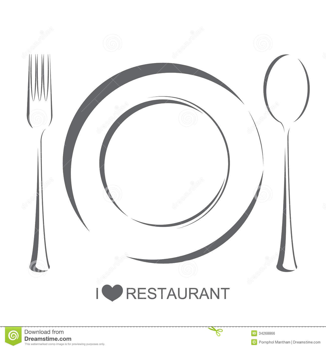 Restaurant, Plate Fork Spoon Royalty Free Stock Image ...