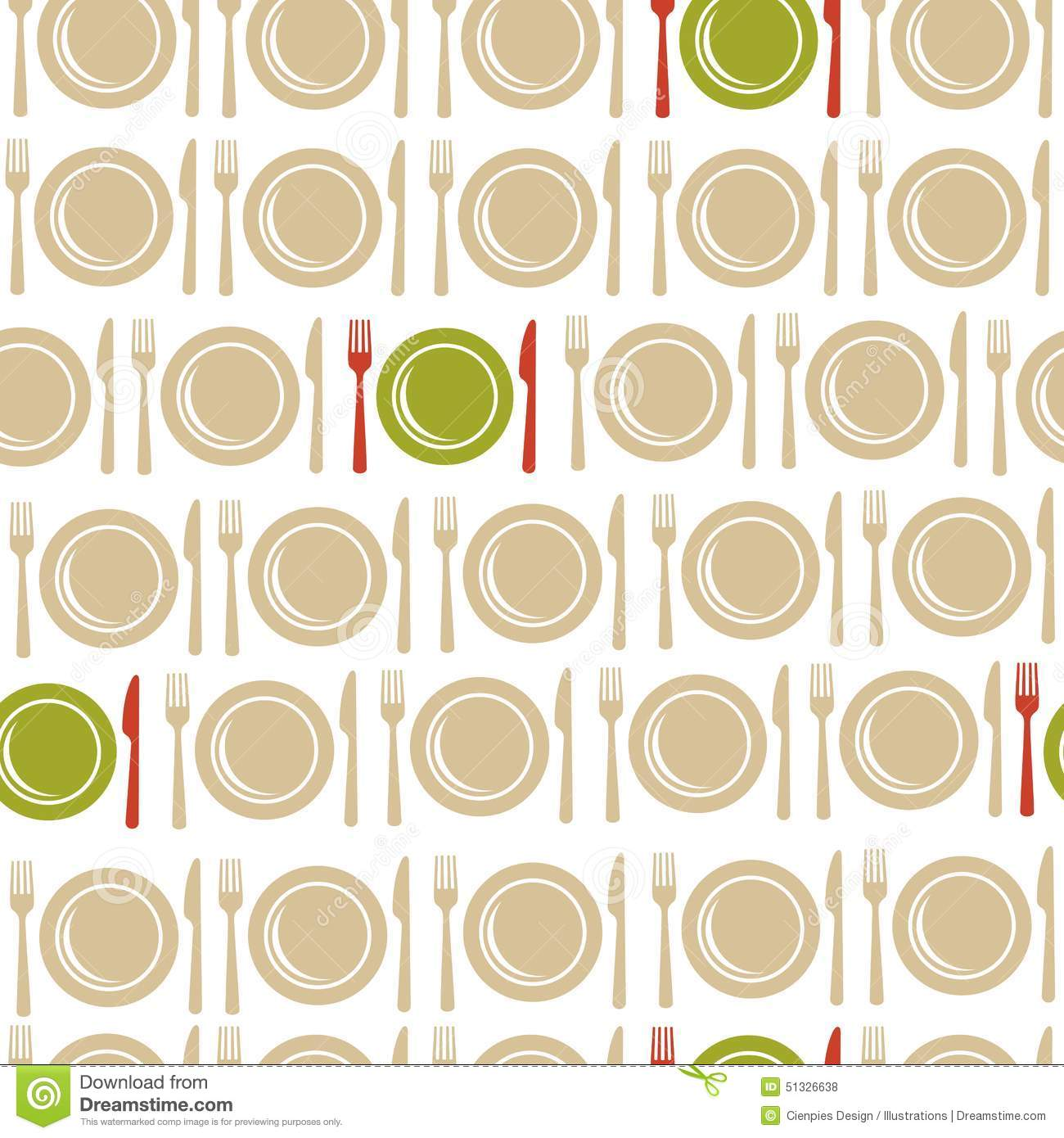 Book Inside Cover Patterned Paper ~ Restaurant seamless pattern background stock vector